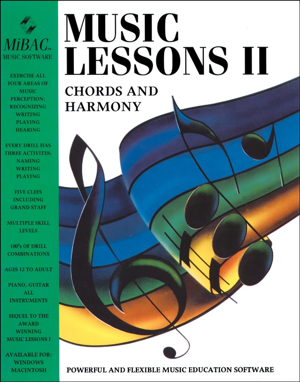 MIBAC Music Software Music Lessons II - 40 Seat Site License image 1
