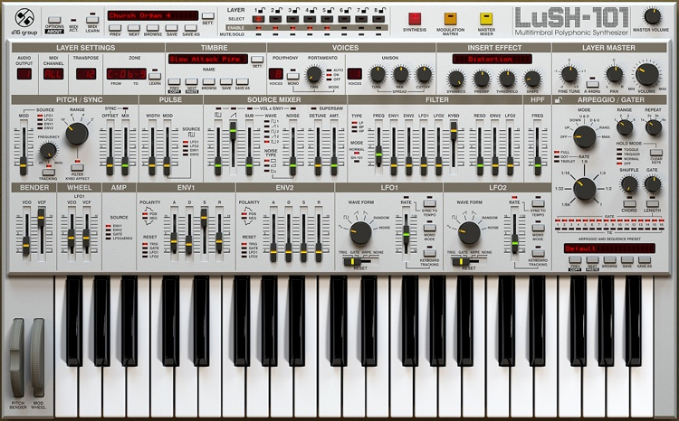 D16 Group LuSH-101 Analog Synthesizer Plug-in image 1