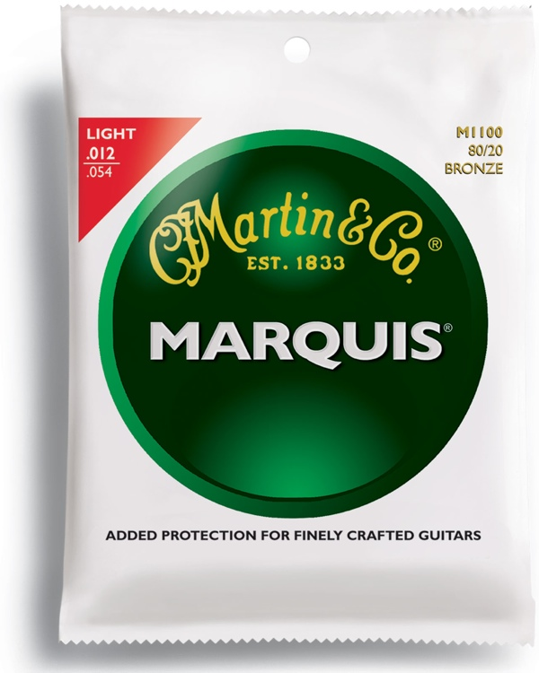 Martin M-1100 Marquis 80/20 Bronze Light Acoustic Strings image 1