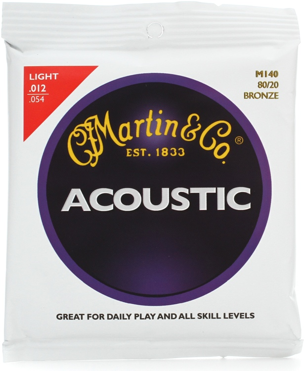 Martin M-140 80/20 Bronze Light Acoustic Strings image 1