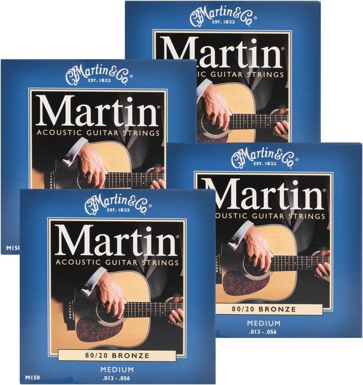 Martin M-150 4-Pack 80/20 Bronze Medium Acoustic Strings image 1