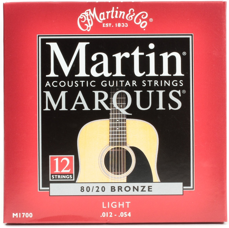 Martin M-1700 Marquis 80/20 Bronze Light 12-String Acoustic Strings image 1