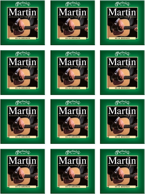 Martin M-170 80/20 Bronze Extra Light Acoustic Strings 12-Pack image 1