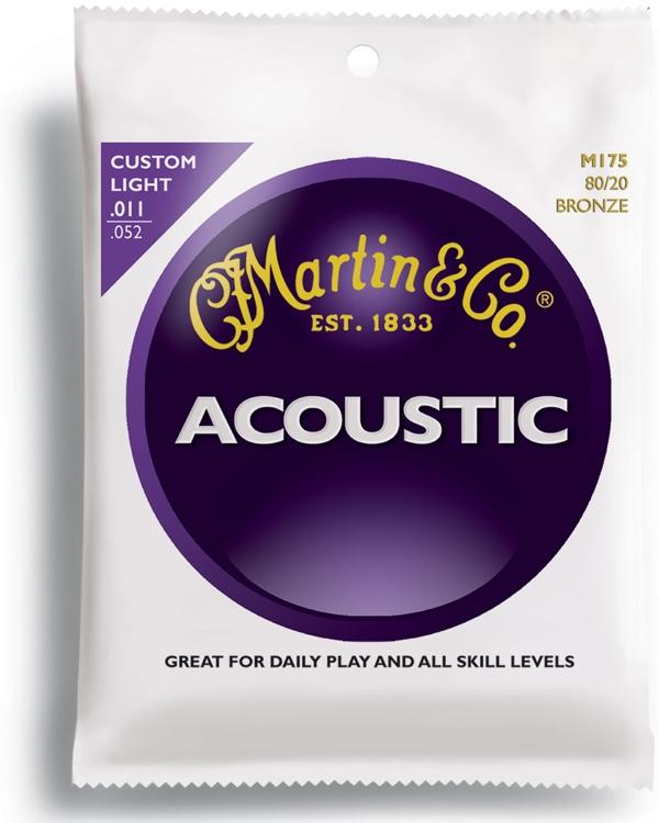 Martin M-175 Traditional 80/20 Bronze Custom Light Acoustic Strings image 1