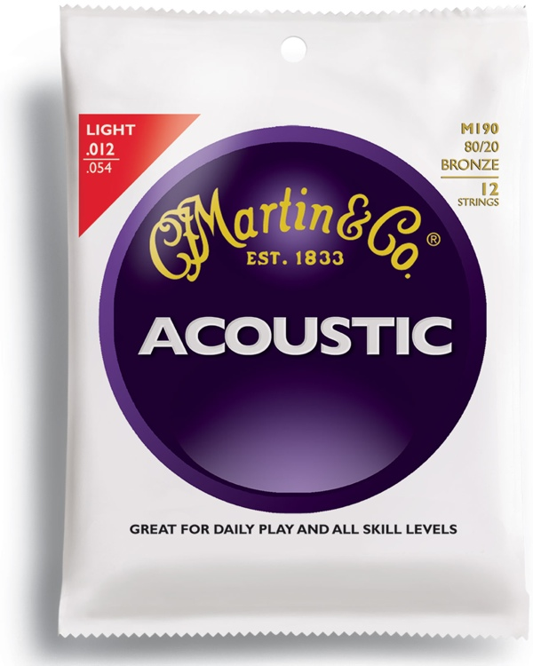Martin M-190 Traditional 80/20 Bronze Light Acoustic Strings image 1