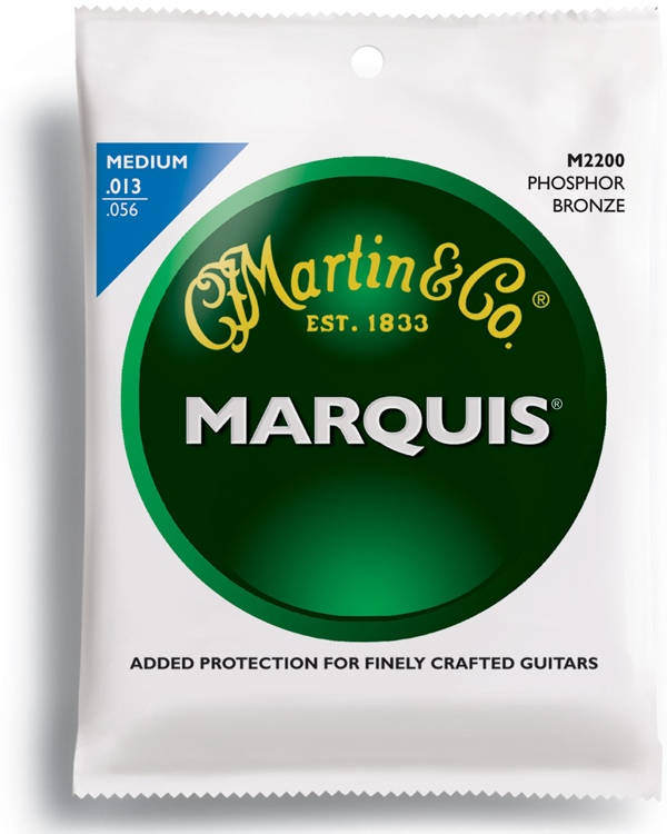 Martin M-2200 Marquis 92/08 Phosphor Bronze Medium Acoustic Strings image 1