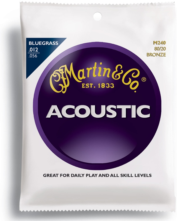 Martin M-240 Traditional 80/20 Bronze Bluegrass Acoustic Strings image 1