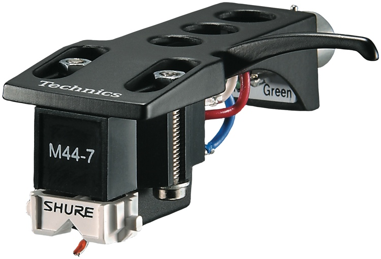 Shure M44-7H Turntable Cartridge with Technics Headshell image 1