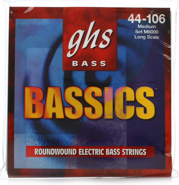 GHS M6000 Bassics Roundwound Long Scale Medium Electric Bass Strings image 1