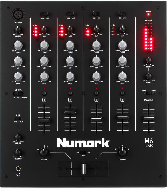 Numark M6 USB 4-channel DJ Mixer image 1