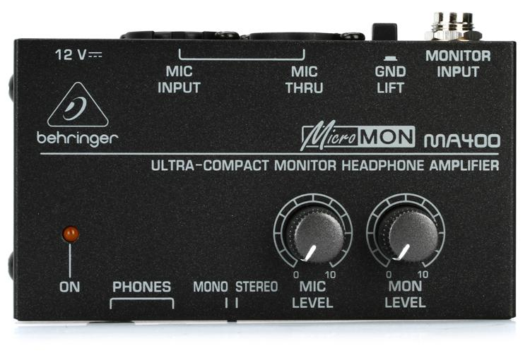 Behringer MicroMON MA400 1-Ch Monitor Headphone Amplifier image 1
