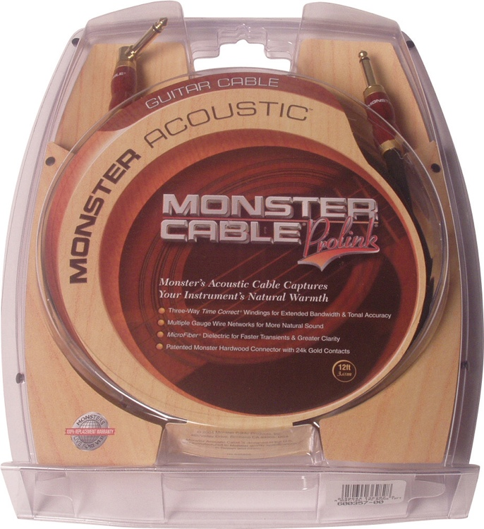 Monster 600357 Acoustic Instrument Cable - 12\' image 1