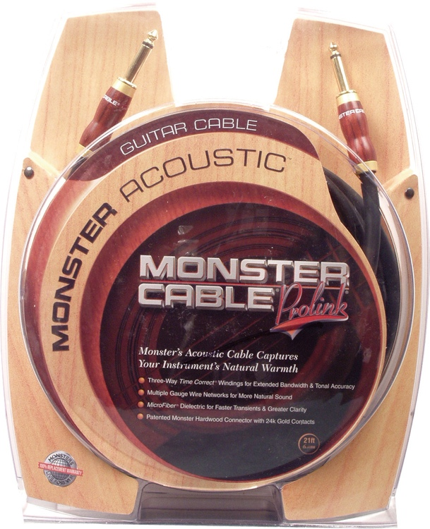 Monster 600356 Acoustic Instrument Cable - 21\' image 1