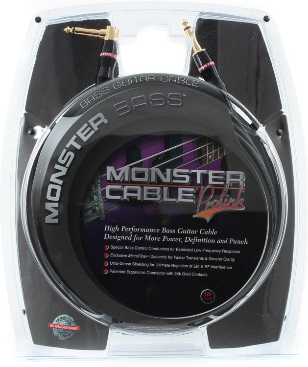 Monster 600201 Bass Instrument Cable - 12\' image 1