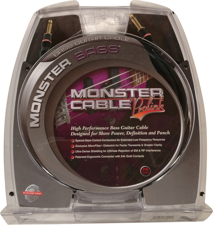 Monster 600199 Bass Instrument Cable - 21\' image 1