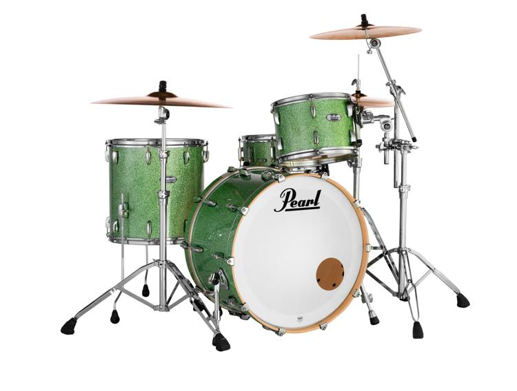 Pearl Masters Complete 3-piece Shell Pack - Absinthe Green Sparkle image 1