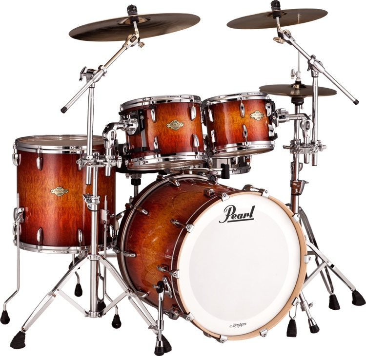 Pearl Masters MCX 4-Piece Shell Pack - Quilted Bubinga Sunburst image 1