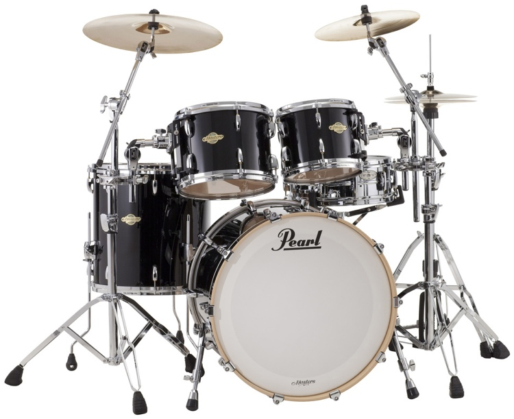 Pearl Masters MCX 4-Piece Shell Pack - Piano Black image 1