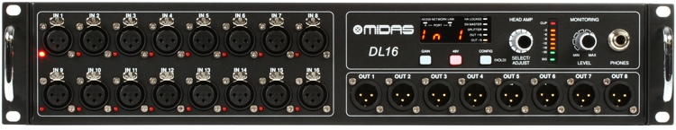 Midas DL16 16-input / 8-output Stage Box image 1
