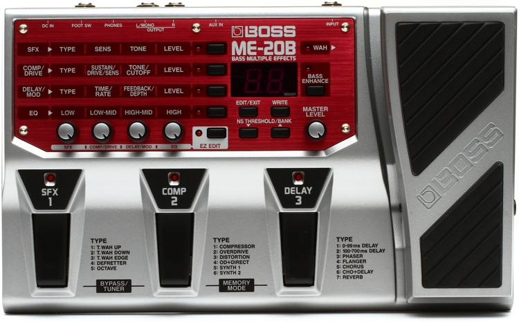 Boss ME-20B Bass Multi-effects Pedal image 1