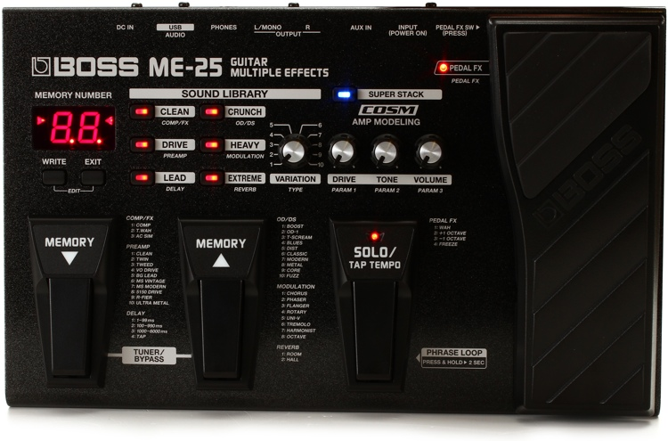 Boss ME-25 Guitar Multi-effects Pedal image 1