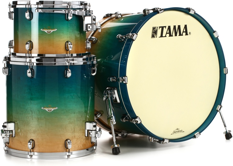 Tama Starclassic Maple Exotix Nashville Shell Pack - 3-piece - Figured Caribbean Blue Fade image 1
