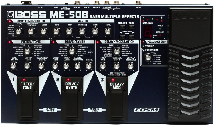 boss me 50b bass multi effects pedal sweetwater. Black Bedroom Furniture Sets. Home Design Ideas