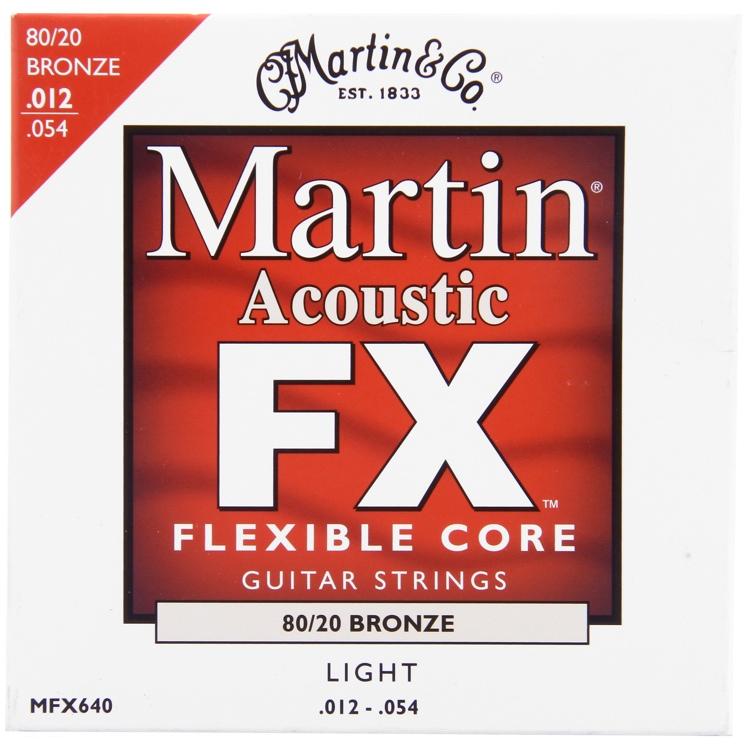 Martin FX640 Flexible Core 80/20 Bronze Light Acoustic Strings image 1