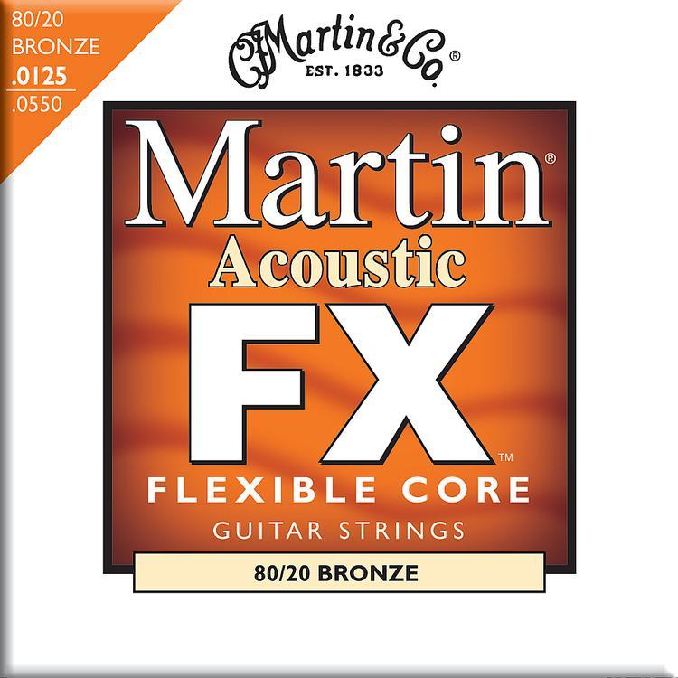 Martin FX645 Flexible Core 80/20 Bronze Light/Medium Acoustic Strings image 1