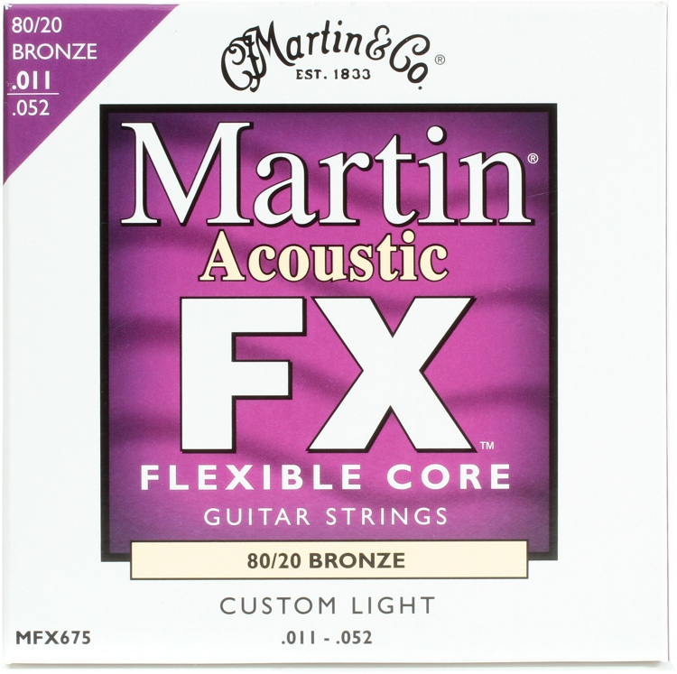 Martin FX675 Flexible Core 80/20 Bronze Custom Light Acoustic Strings image 1