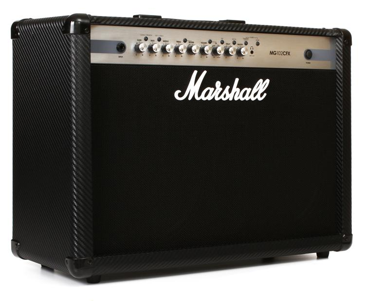 marshall mg102cfx 100 watt 2x12 4 channel combo amp with effects sweetwater. Black Bedroom Furniture Sets. Home Design Ideas