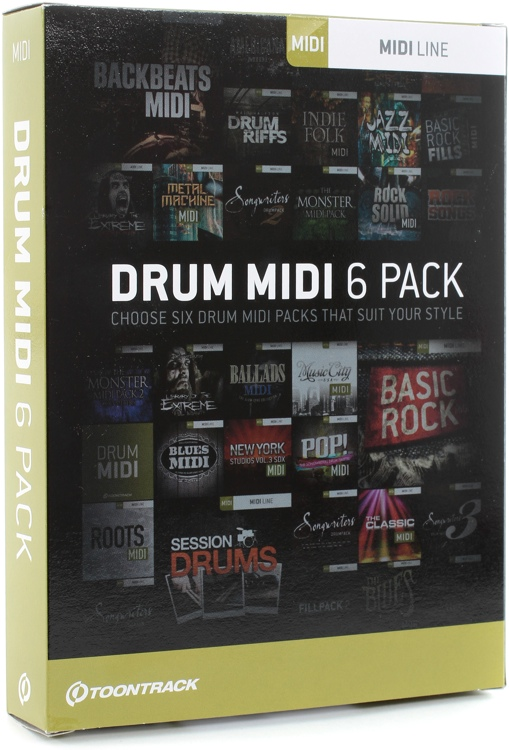 Toontrack Drum MIDI 6-pack - Boxed image 1