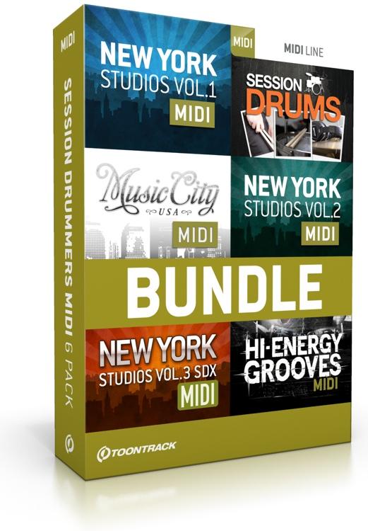 Toontrack Session Drums MIDI 6-pack image 1