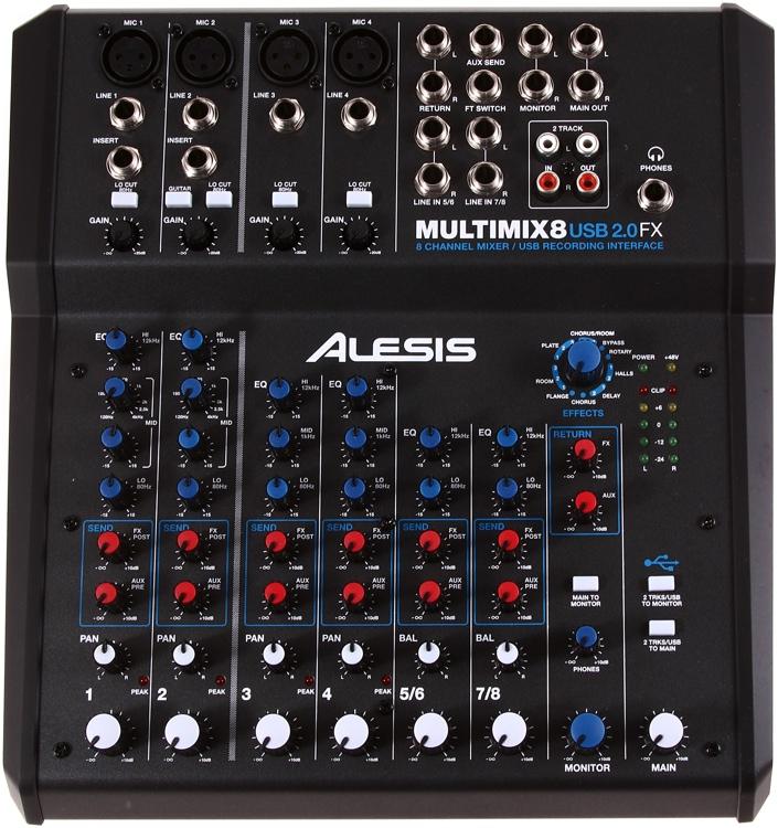 Alesis Multimix 8 USB 2.0 FX image 1