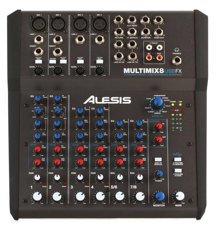 Alesis MultiMix 8 USB FX Mixer with Effects image 1