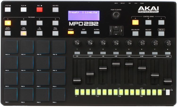 Akai Professional MPD232 Pad Controller with Step Sequencing image 1