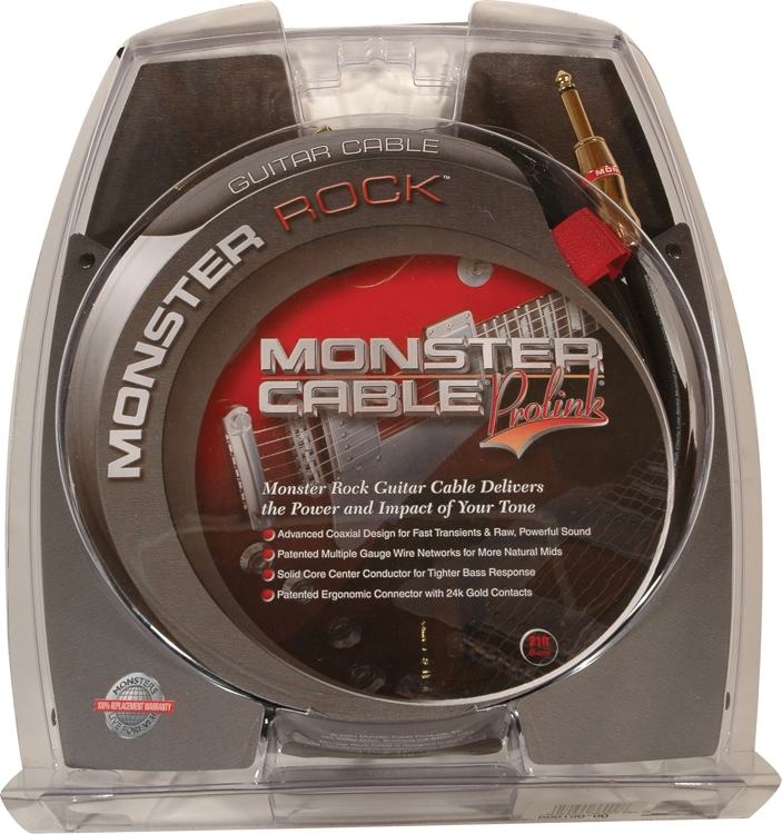 Monster 600190 - 21\' Straight-to-Angled Rock Instrument Cable image 1