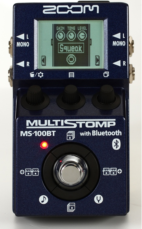 Zoom MS-100BT MultiStomp Effects Pedal with Bluetooth image 1