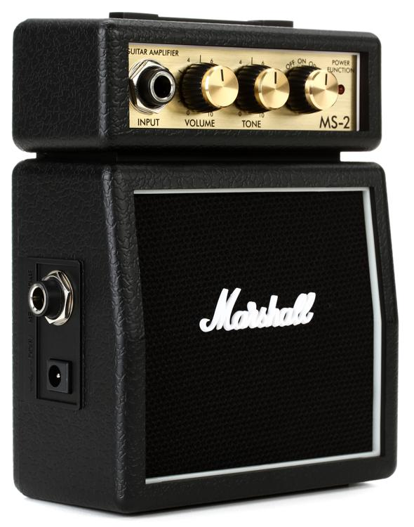 Marshall MS-2 1-watt Battery-powered Micro Amp - Black image 1