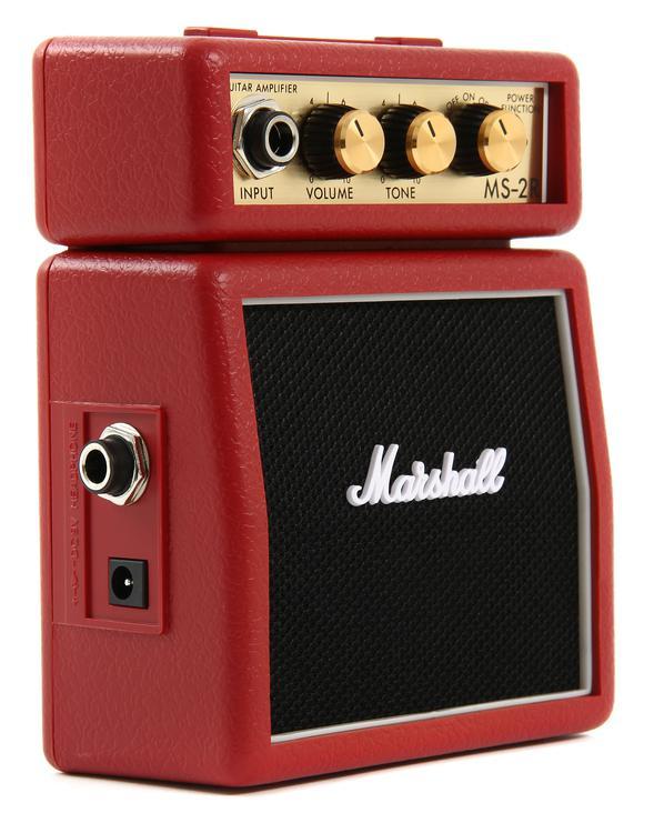 Marshall MS-2R 1-watt Battery-powered Micro Amp - Red image 1