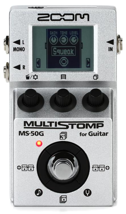 zoom ms 50g multistomp multi effects pedal sweetwater. Black Bedroom Furniture Sets. Home Design Ideas