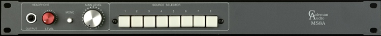 Coleman Audio MS8A Stereo Monitor Switcher image 1