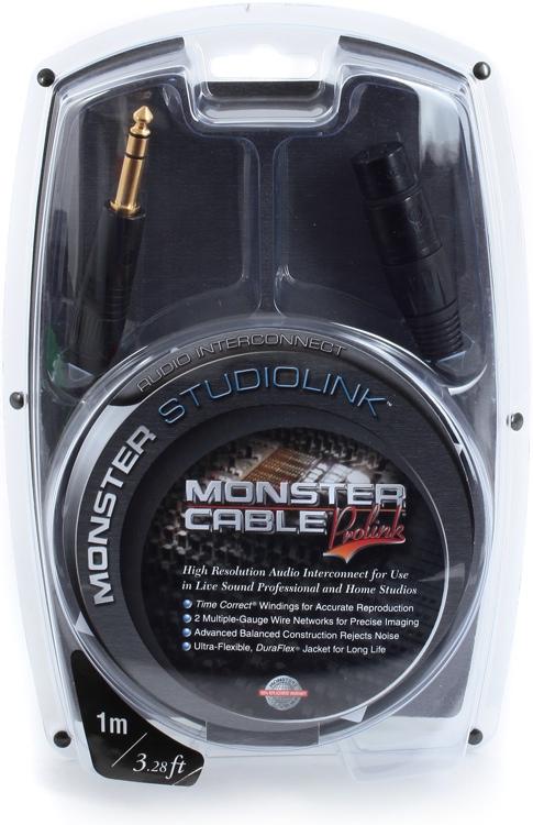 Monster 600310 StudioLink Balanced Interconnects - 1 Meter image 1
