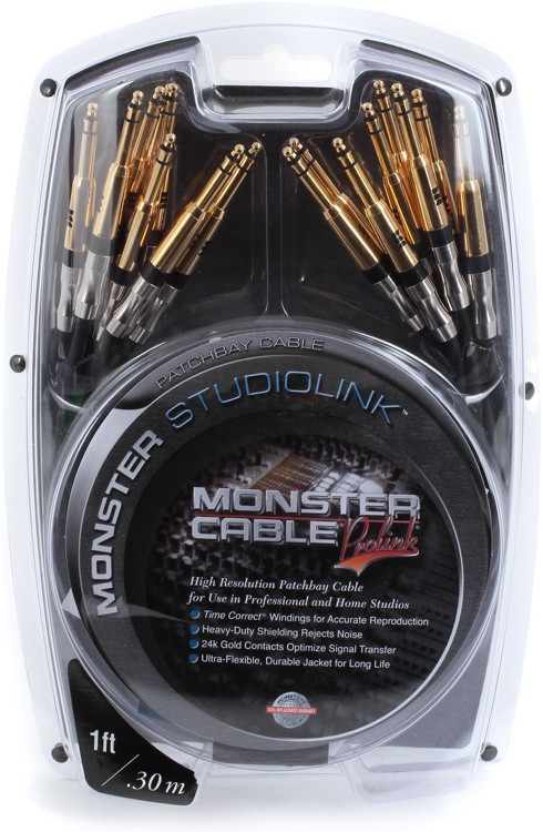 Monster StudioLink Patchbay Cable - 1\' image 1