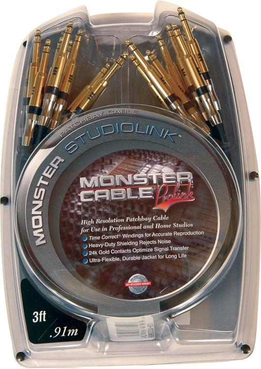 Monster StudioLink Patchbay Cable - 3\' image 1