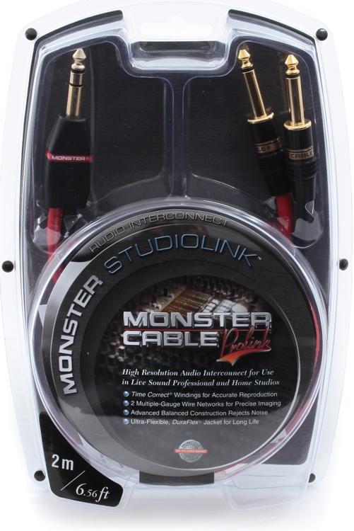 Monster 600332 StudioLink Balanced Interconnects - 2 Meter image 1