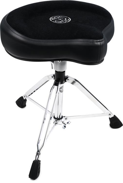 Roc-N-Soc Manual Spindle Drum Throne  - Original Saddle, Black image 1