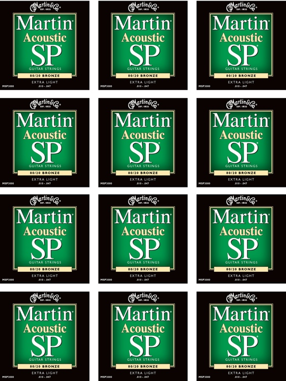 Martin MSP-3000 SP 80/20 Bronze Extra Light Acoustic Strings 12-Pack image 1