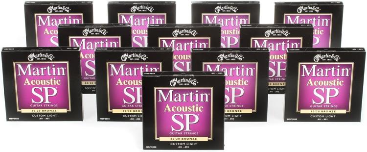 Martin MSP-3050 SP 80/20 Bronze Custom Light Acoustic Strings 12-Pack image 1