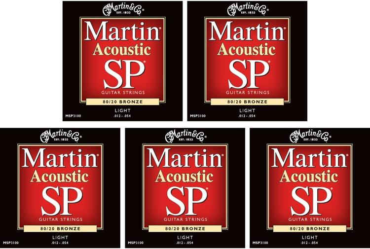 Martin MSP-3100 SP 80/20 Bronze Light Acoustic Strings 5-Pack image 1